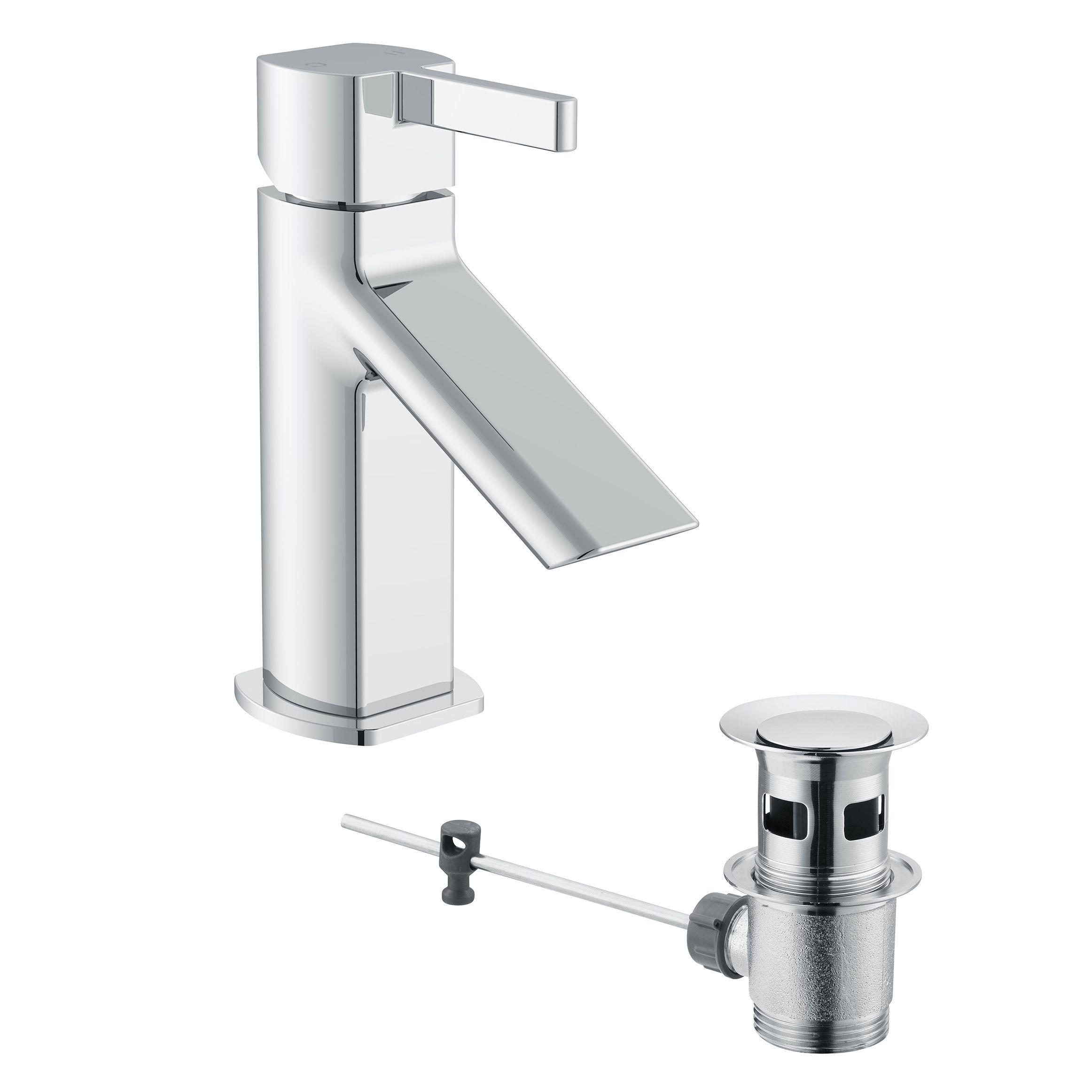 Cooke & Lewis Airlie 1 Lever Basin mixer tap | Basin mixer, Mixer ...