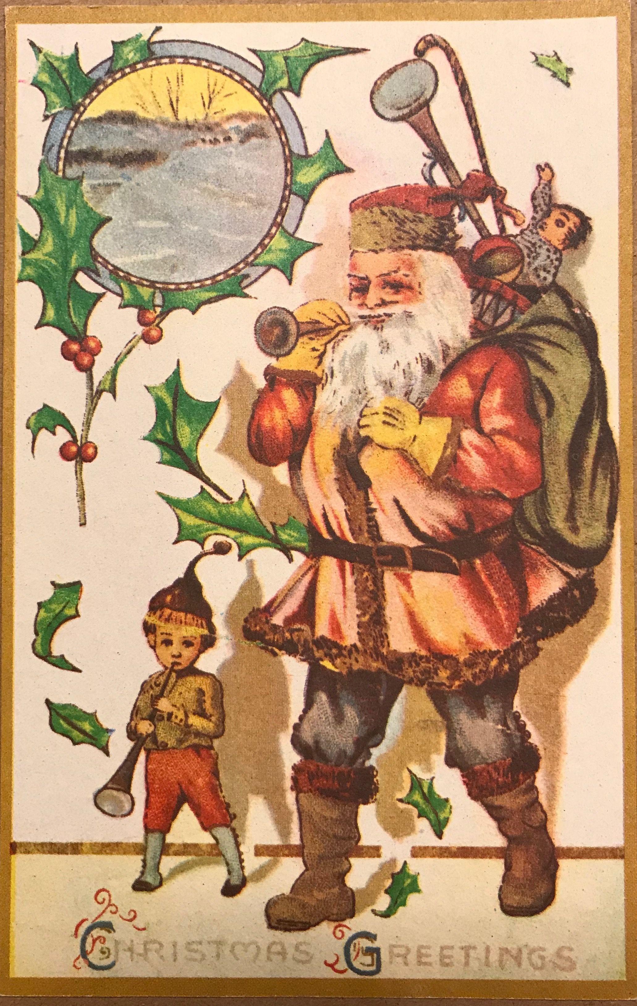 Nostalgique Carte de Noël Noël Père Noël Père Noël
