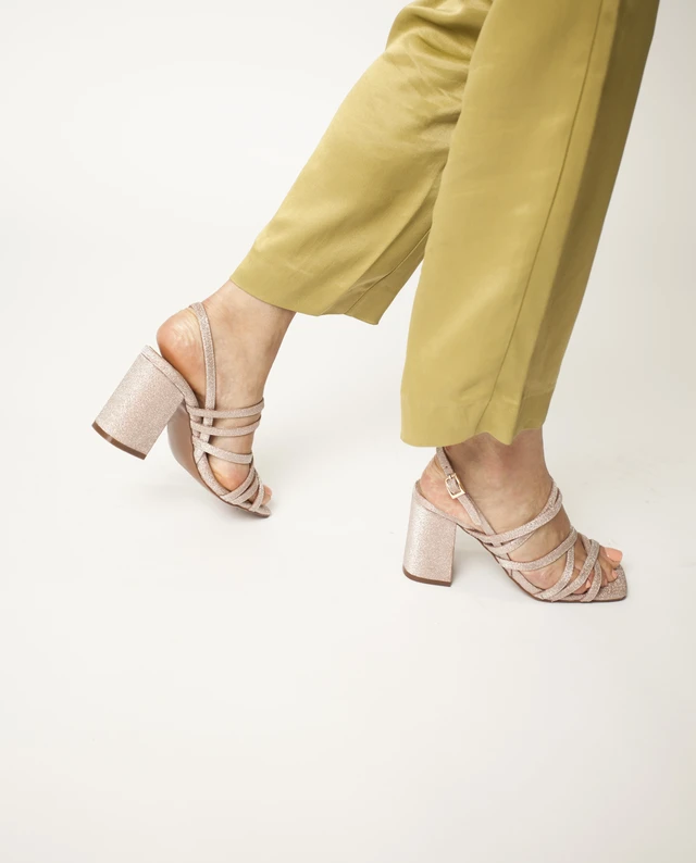 2 Baia Vista Valentin Peach Zomp Shoez In 2020 Strappy Sandals Heeled Mules Heels