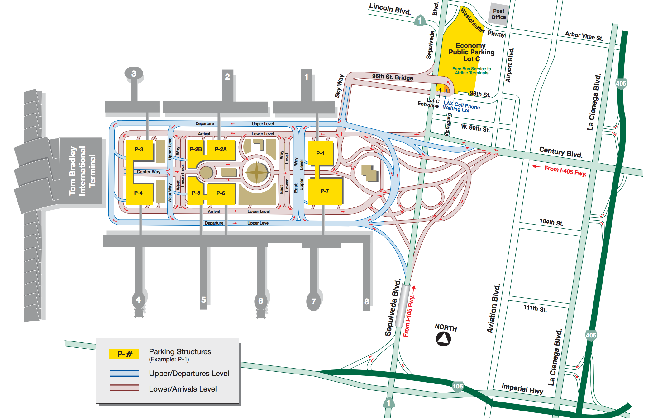A Quick Guide To Lax Lax Airport Map Airport Parking