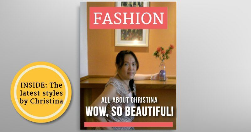 Your most beautiful picture on a magazine cover!