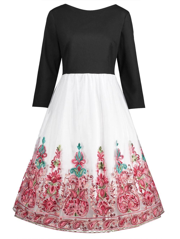 Plus size tulle panel floral dress spanish pinterest tulle