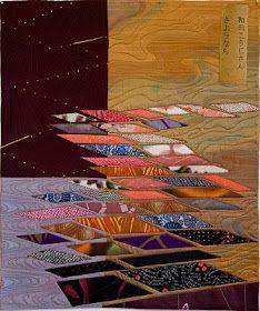 "Sara Kelly Art Quilts: Sayonara, Koji Wada 27""x22.5"" 2008"