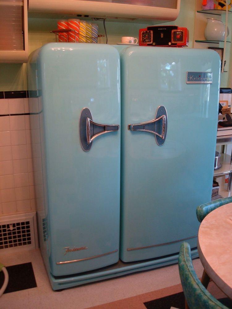 Man Cave Refrigerator : S kelvinator foodarama fridge refrigerator retro man