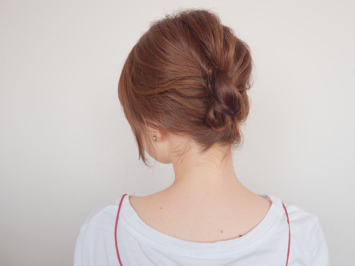 夜会巻きのやり方 かぶせ方は 普段着にも似合うヘアアレンジ 簡単 まとめ髪 夜会巻き 髪型 ロング アレンジ