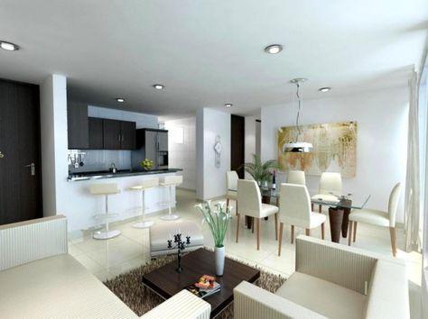 Dise os de sala comedor y cocina en 2019 dise o sala for Diseno de interiores sala de estar comedor