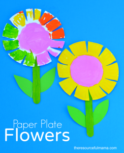 This paper plate flower craft is a great spring and summer craft for kids. It  sc 1 st  Pinterest & Paper Plate Flower Craft for Kids | Best Scissor skills Flower ...