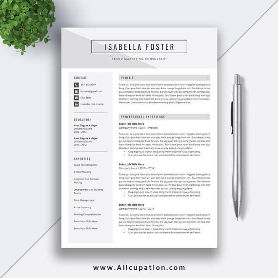 Professional 5 Pages Resume Template, CV Template, MS Word, Modern - resume 5 pages