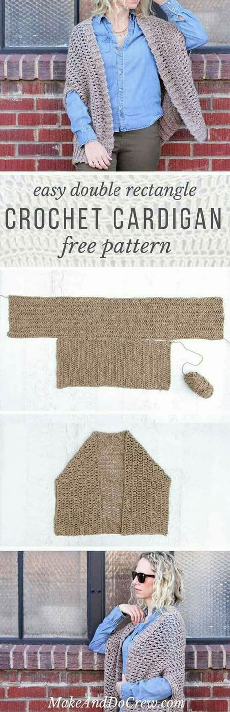 Cocoon Cardigan Free Crochet Pattern | Tejido, Ponchos y Ganchillo