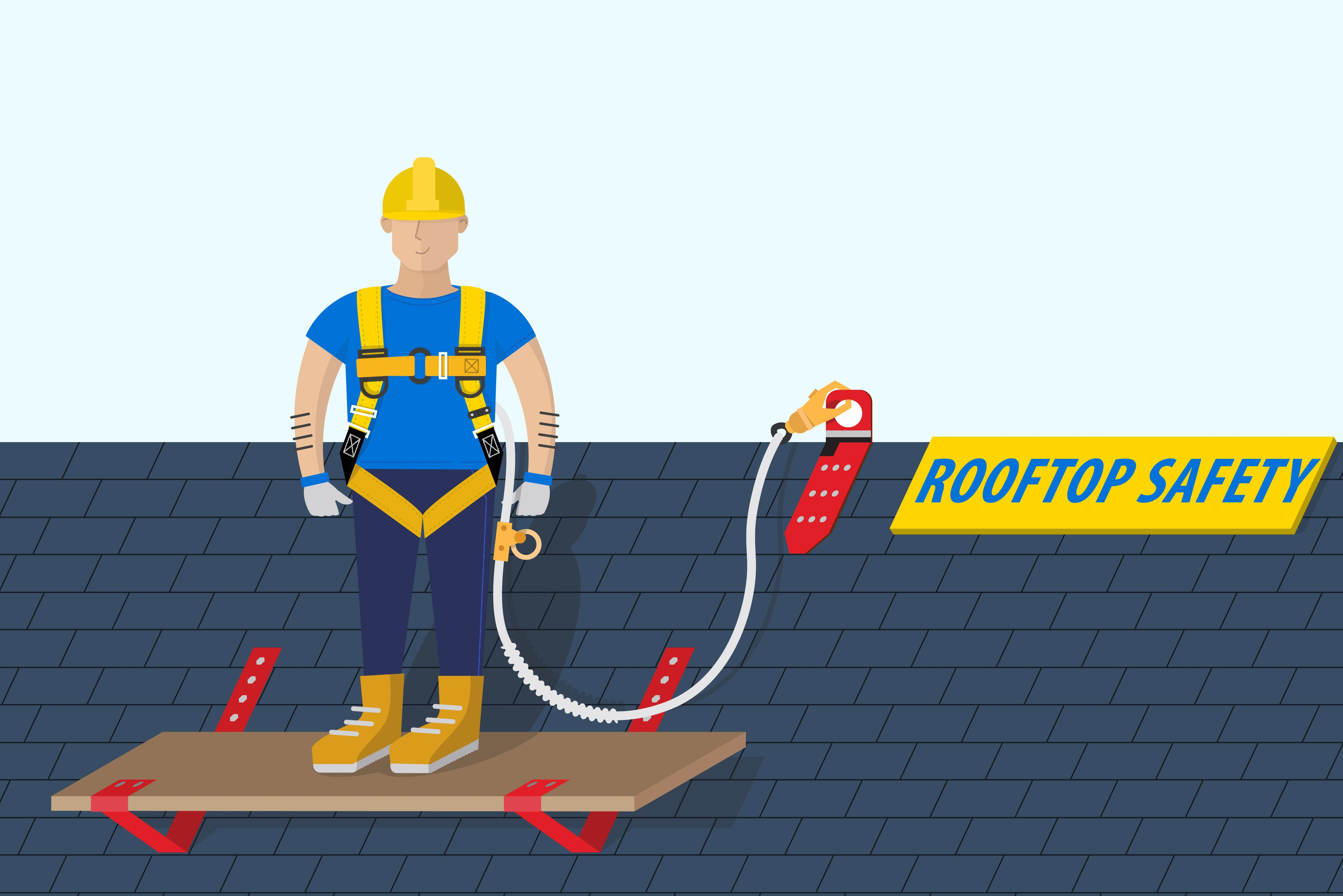 How to secure yourself on a roof roofing companies