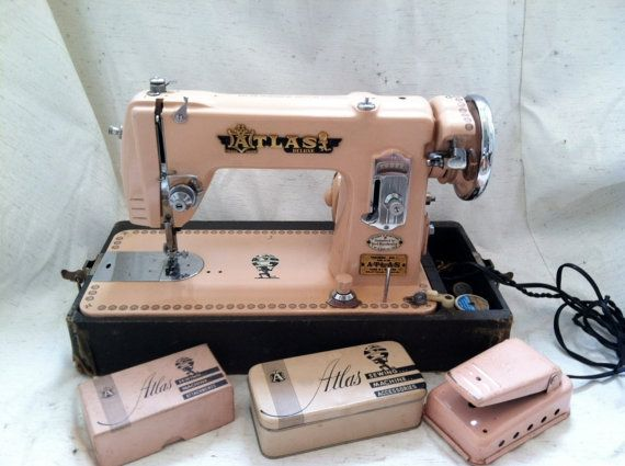 40 Pink Atlas Precision Sewing Machine By Birdsnbicycles On Etsy Fascinating Atlas Industrial Sewing Machines