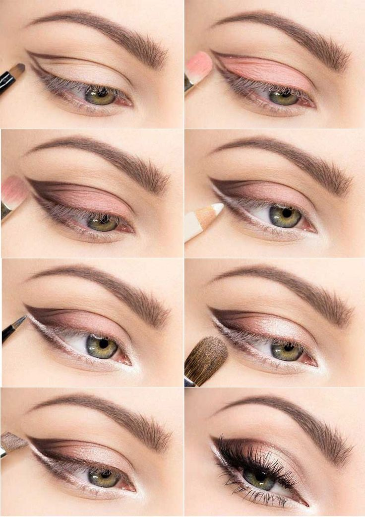 Soft Color For Larger Looking Eyes Small And Hooded Pink Shadow