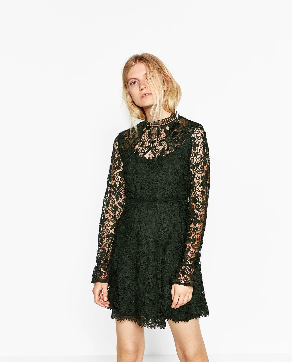 ZARA - MUJER - VESTIDO MINI ENCAJE | vestido | Pinterest | Damen