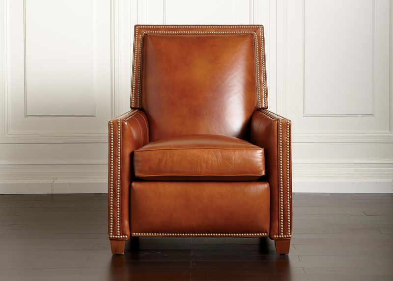 Incredible Randall Leather Recliner 1 996 32 W X 40 H X 37 D Short Links Chair Design For Home Short Linksinfo