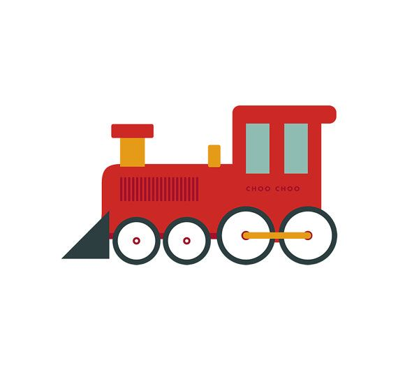 Toy train print, vintage inspired - 8\