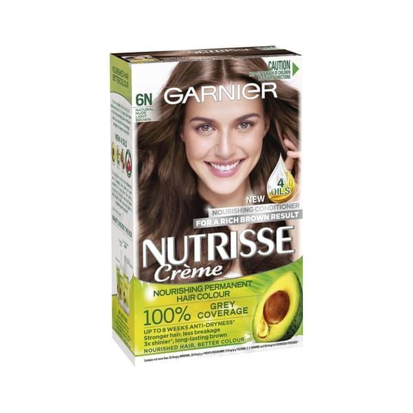 Garnier Nutrisse CrAme 6N Natural Light Brown Gallery