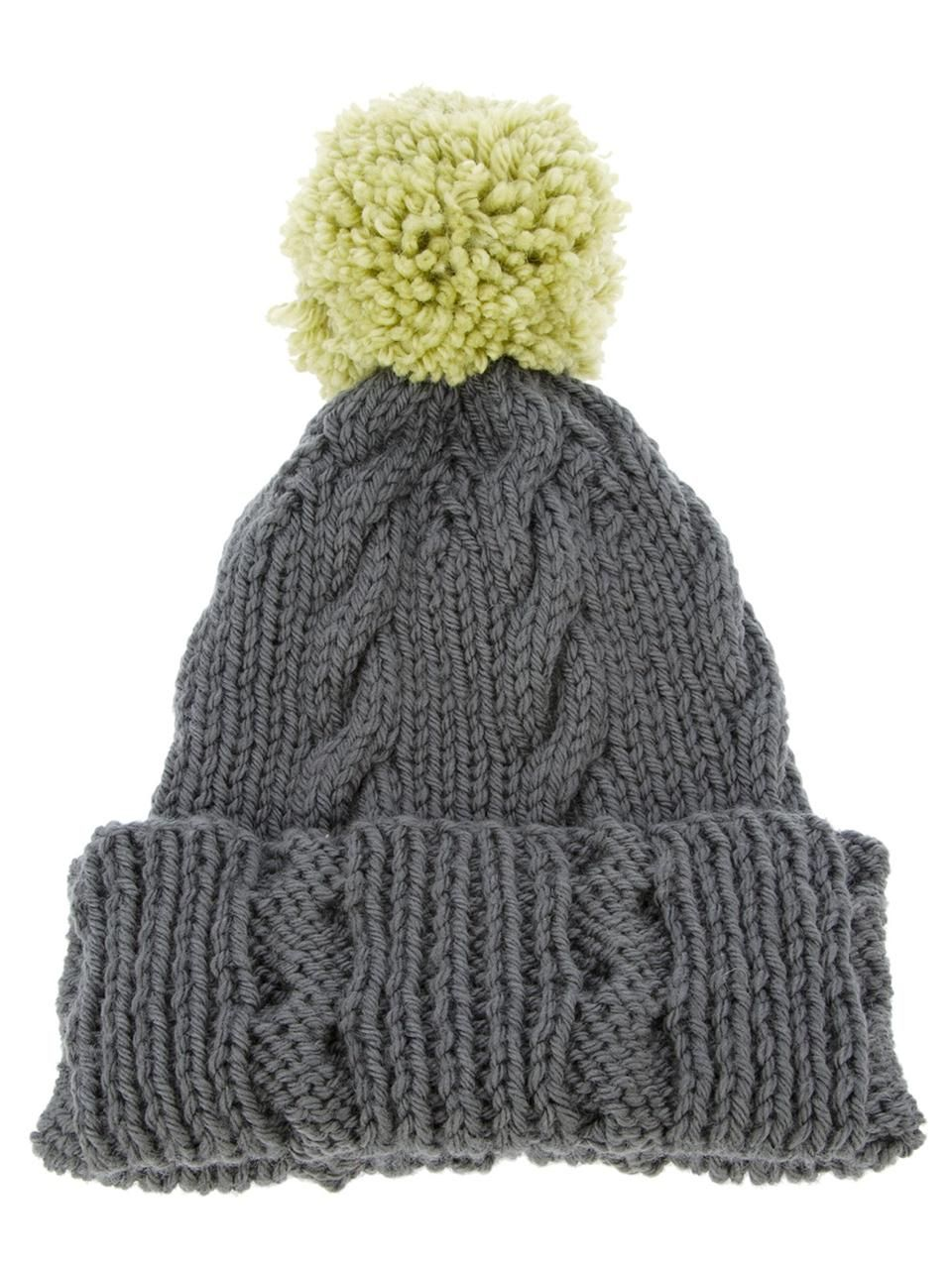c884a8a98fc Labour Of Love grey wool bobble hat