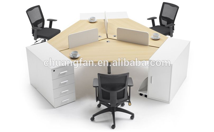 Gd Cd0829 Fashionable 120 Degree 3 Person Office Workstation