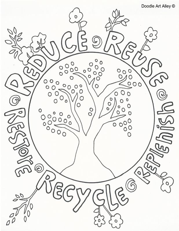 Reduce, Reuse, Recycle doole | KCamp Reduce Reuse Recycle | Pinterest
