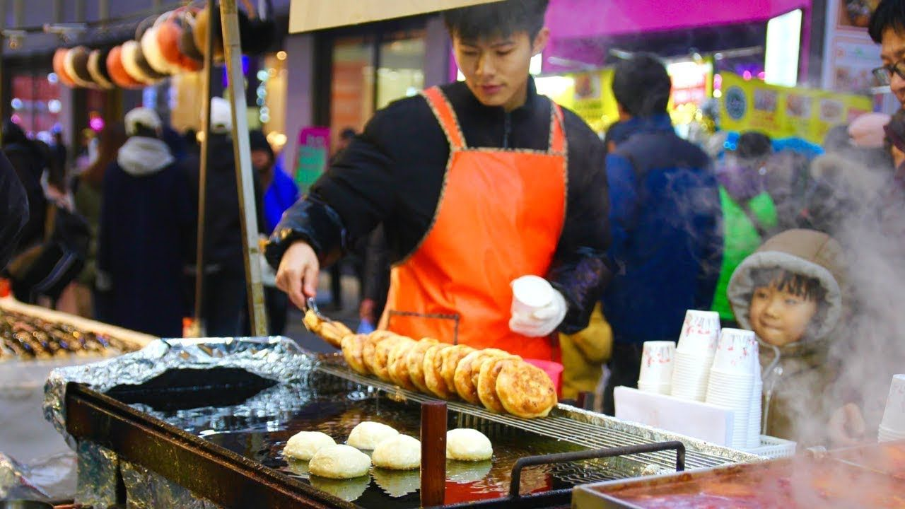 Halal Korean Street Food Tour In Seoul South Korea Myeongdong Street F