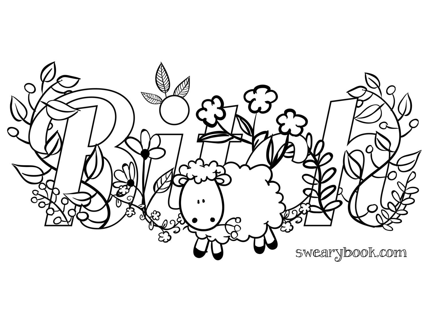 Swear word coloring book volume 1 - Swear Word Printable Adult Coloring Pages