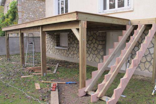 faire terrasse bois sur pilotis Déco jardin Pinterest Verandas