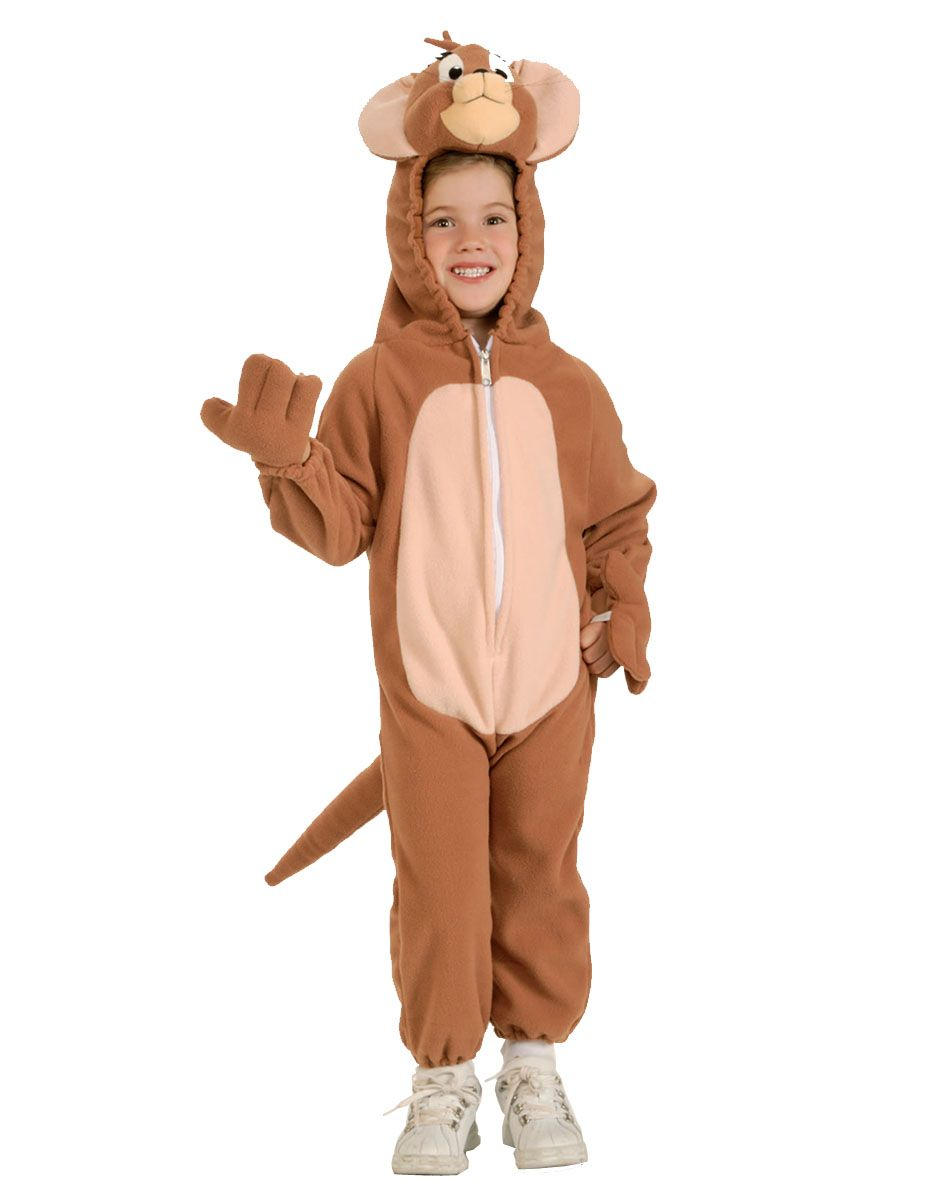 Tom u0026 Jerry Jerry Child Costume - Costume includes fleece jumpsuit with easy release zipper attached hand covers and a plush character headpiece.  sc 1 st  Pinterest & Jerry of Tom and Jerry | Halloween Ideas | Pinterest | Hocus pocus ...