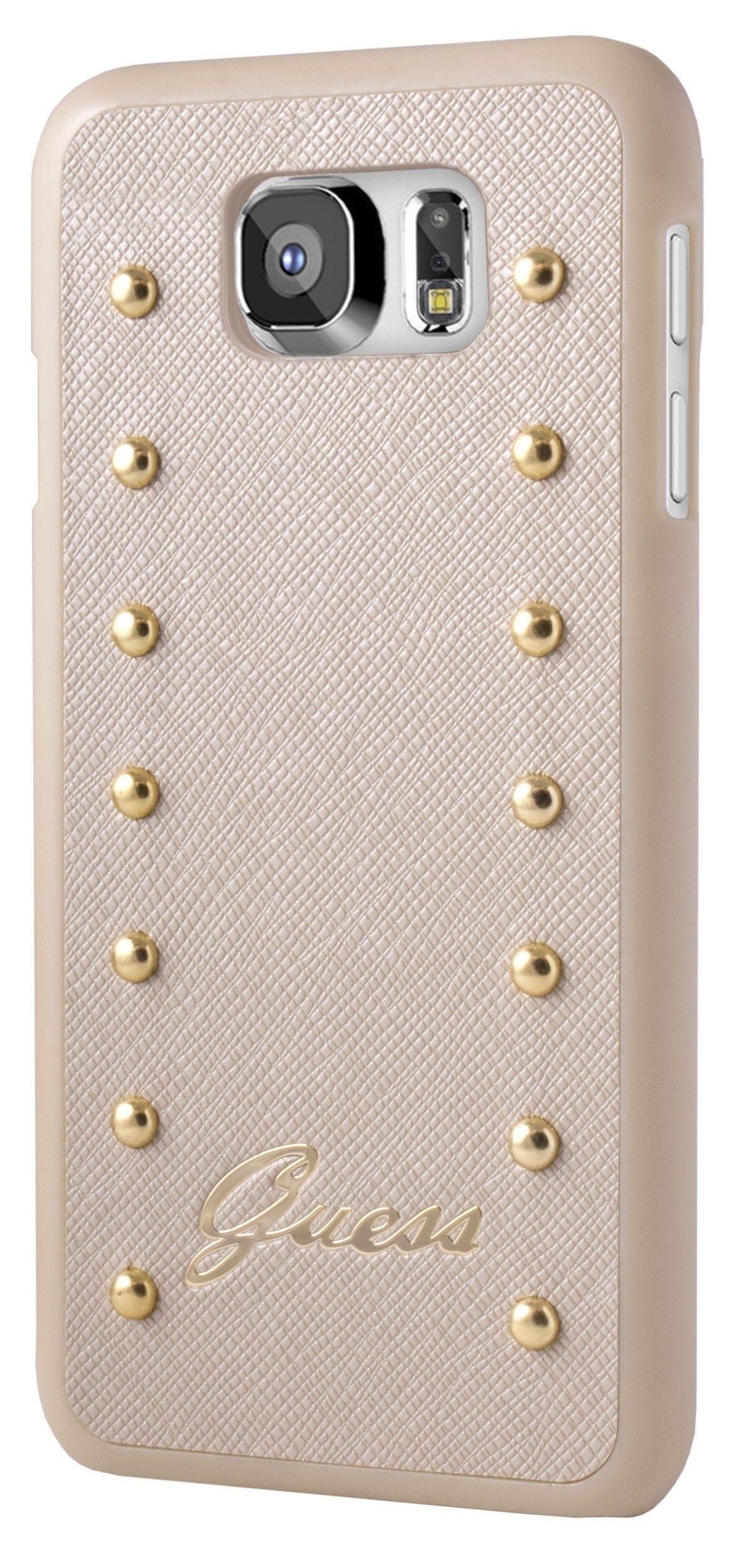 Carcasa Para Samsung Galaxy S6 Guess Studded Beige Samsung Galaxy S6 Samsung Galaxy Galaxy S6