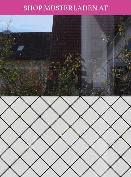 Fensterfolie geometrisch vierecke - folie für badezimmerfenster