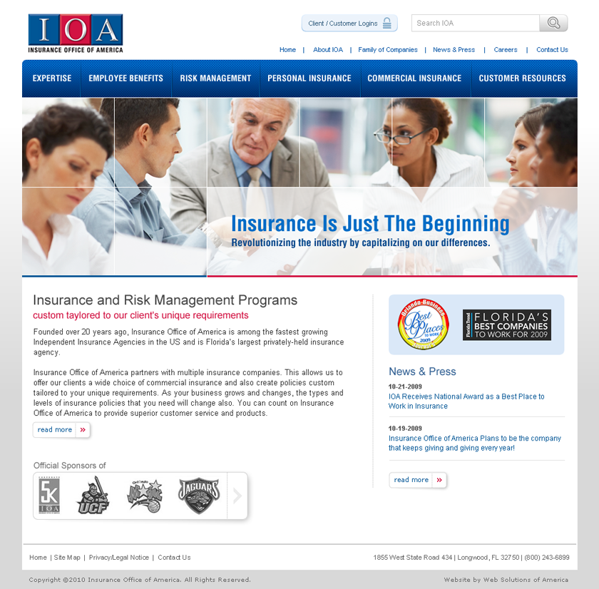 Insurance Office Of America With Images Commercial Insurance Personal Insurance Risk Management
