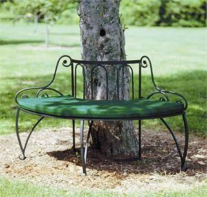 Black Iron Glider Bench Wrought Iron Garden Tree Bench