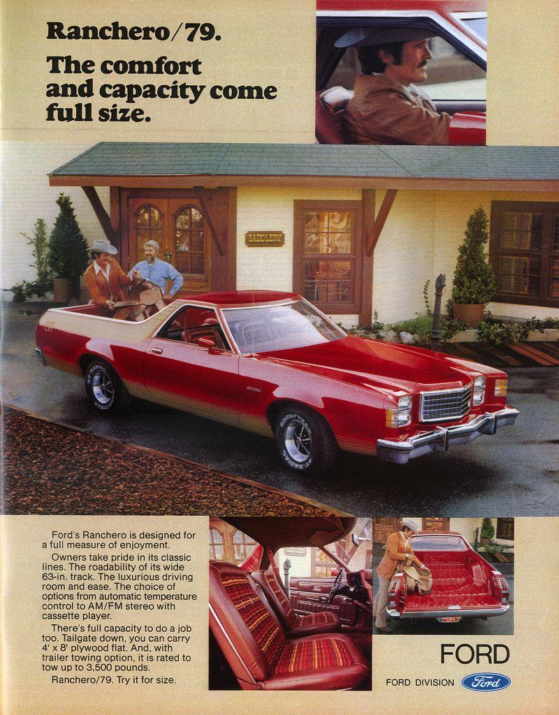 Ford Ranchero Ad 1978 Car Print Ads Cars Trucks Car Model