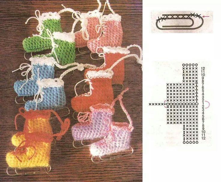 schlittschuhe  new ideas crochetedearrings