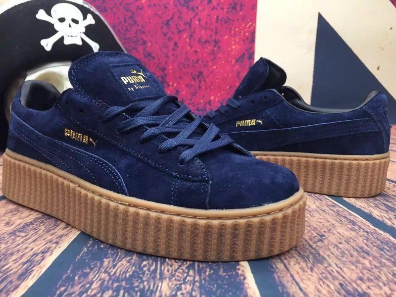 the latest 9a8a8 c2ff0 Dark Blue Rihanna Puma Creepers | Sneakers | Rihanna puma ...