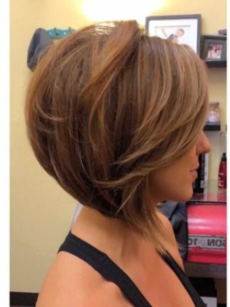 Explore gallery of Short Tapered Bob Hairstyles With Long Bangs (5 of 20) | Bob  hairstyles, Hair styles, Thick hair styles