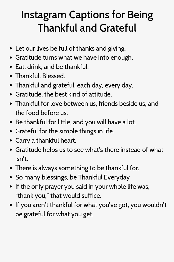 Instagram Captions For Being Thankful And Grateful Instagram Captions Instagram Quotes Captions Instagram Quotes