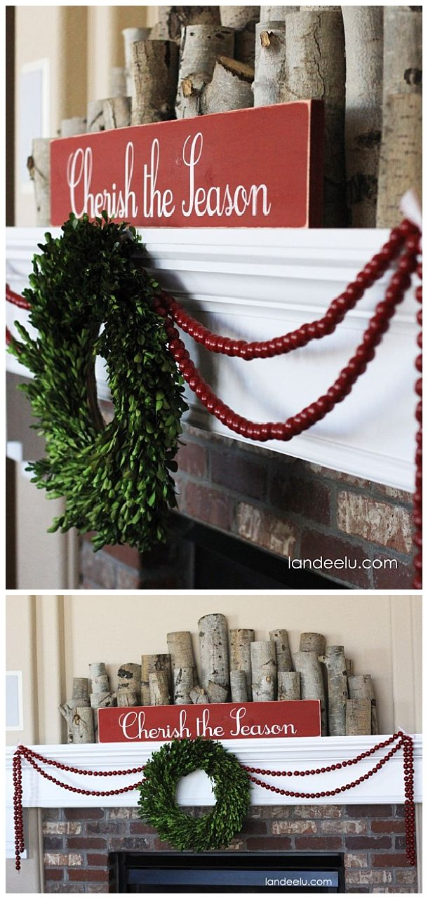 Cozy and Simple Christmas Mantel