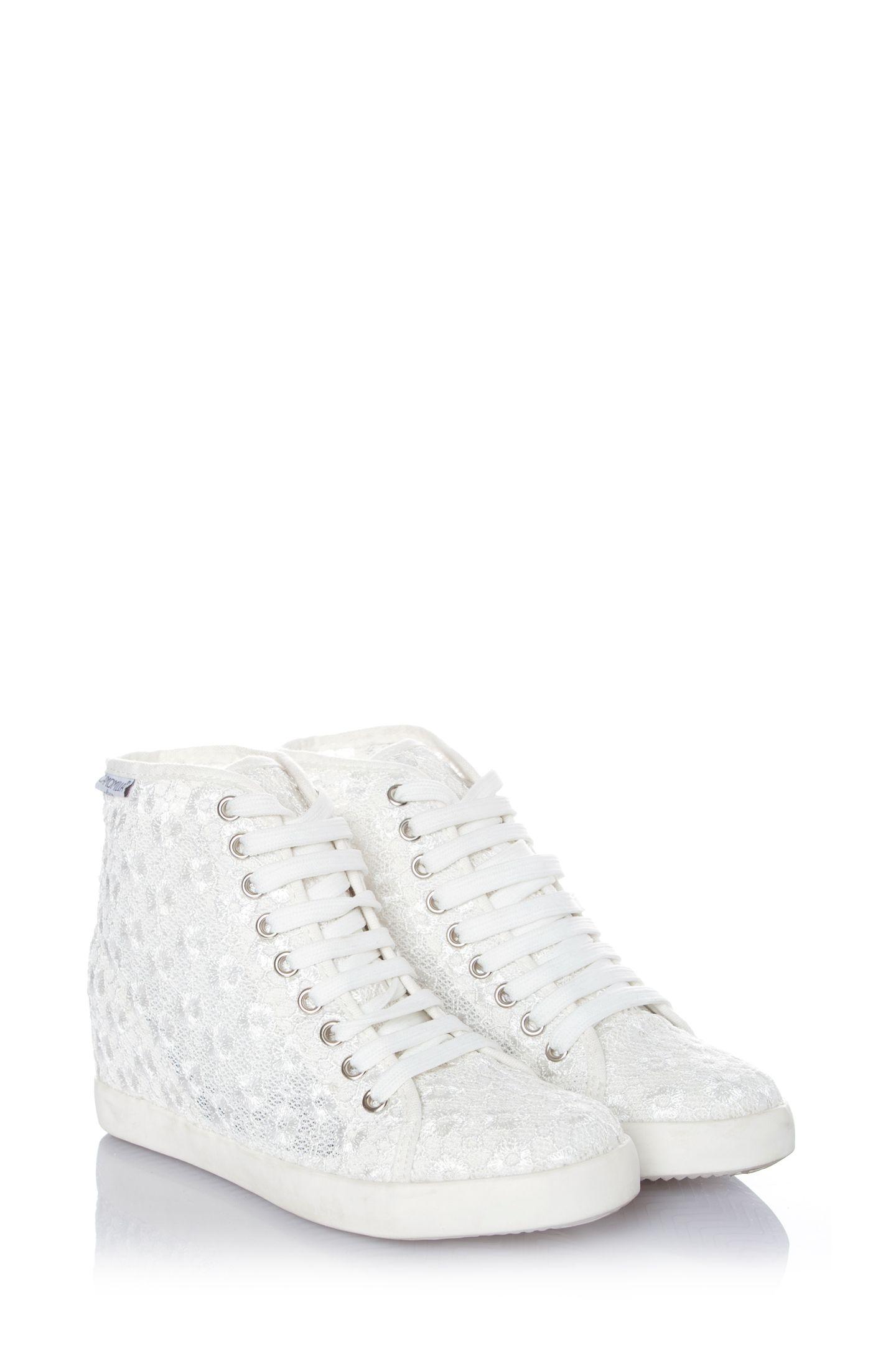 Camomilla Italia - Sneaker in tessuto ricamato con zeppa Susie ... 54a92138235