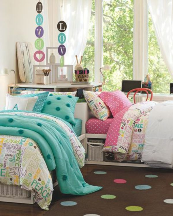kinderzimmer gestalten tolles kinderzimmer f r zwei m dchen wohnen pinterest kids rooms. Black Bedroom Furniture Sets. Home Design Ideas