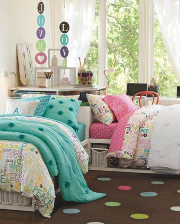 Kinderzimmer gestalten - Tolles Kinderzimmer für zwei Mädchen - Gestalten Rosa Kinderzimmer Kleine Prinzessin