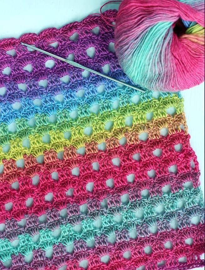 Dew Drop Crochet Wrap or Blanket [Free Pattern] | Pinterest | Decken ...