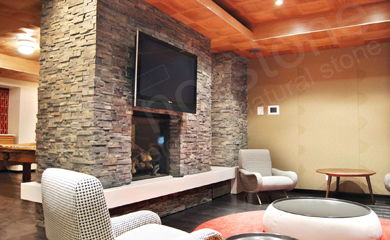 Norstone Stacked Stone Fireplace Surround | fireplace remodel ...