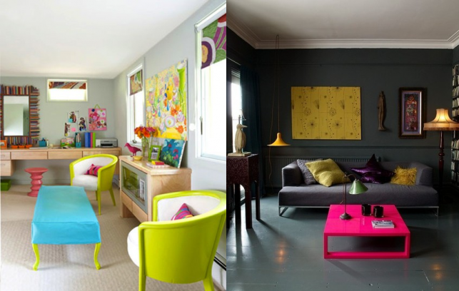Dark Grey Couch Chartreuse Purple And Hot Pink Home Bright Colored Furniture