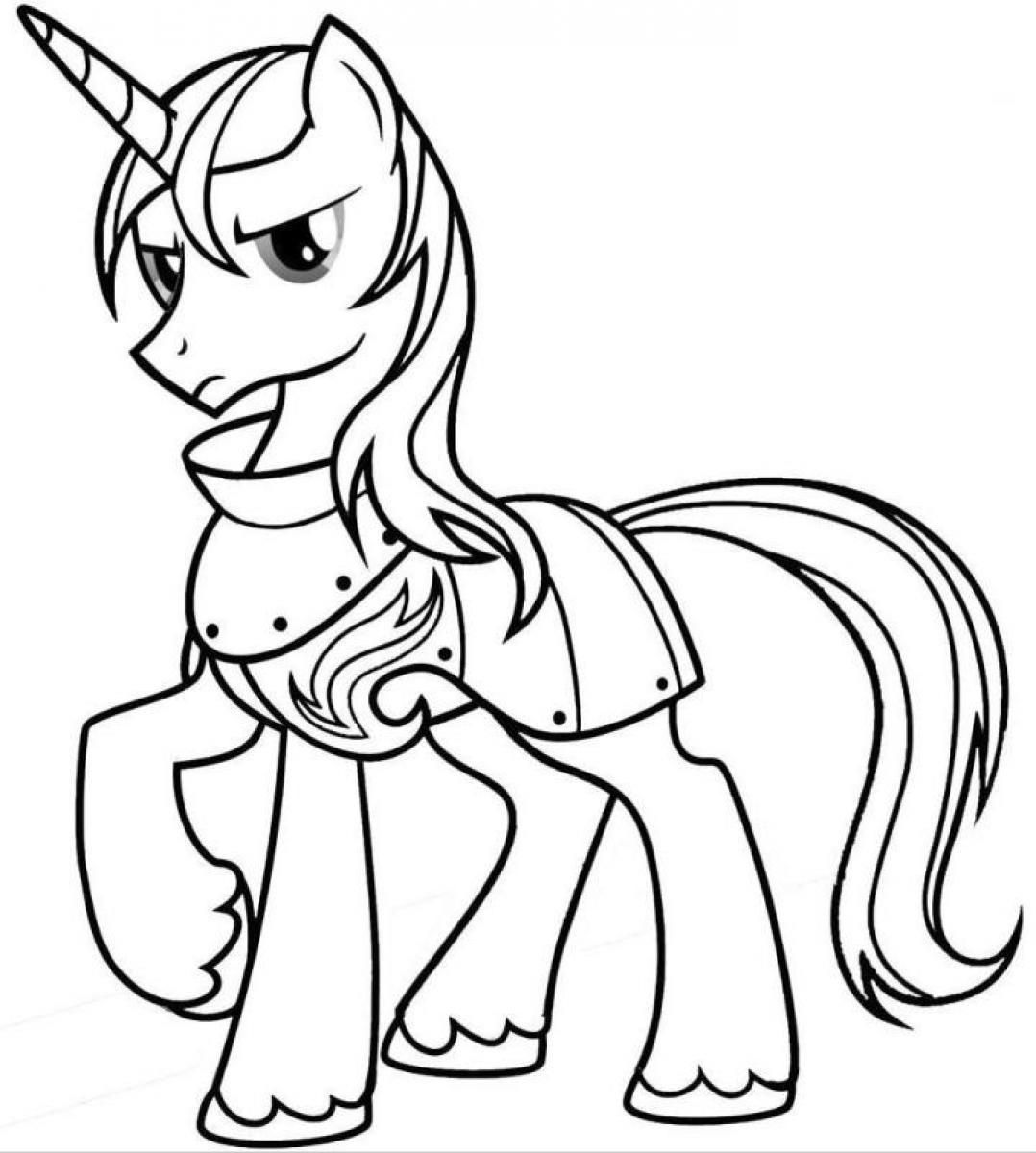 My Little Pony Shining Armor Posing My Little Pony Coloring Pages