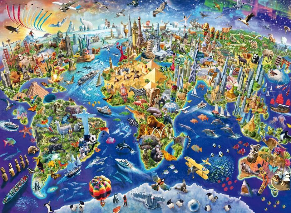 Colorful world map the wooden puzzle 500 pieces ersion jigsaw puzzle colorful world map the wooden puzzle 500 pieces ersion jigsaw puzzle white card adult childrens educational gumiabroncs Image collections