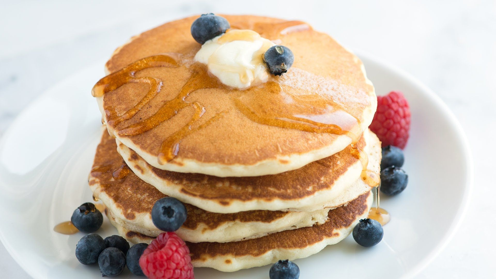 For the full pancake recipe with ingredient amounts and