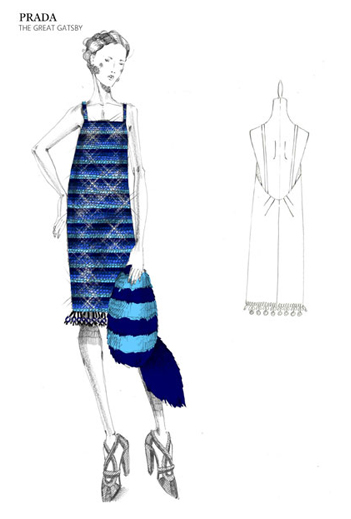 First Look at Miuccia Prada's Great Gatsby costume sketches!