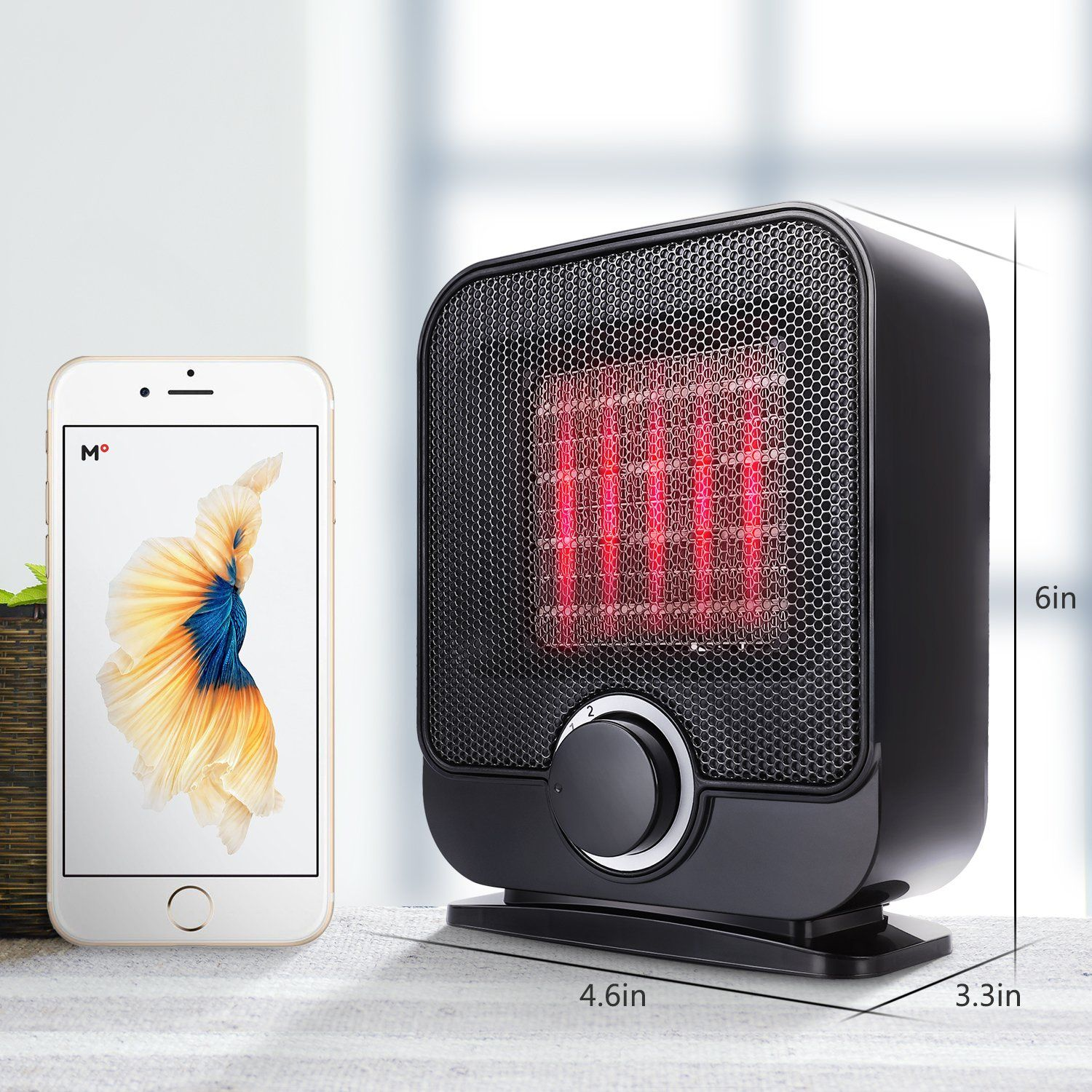 Ceramic Space Heater Portable Personal Electric Heater Indoor Small Desk Heater With 3 Setting Overheat And Tip Desk Heater Space Heater Space Heater Fireplace