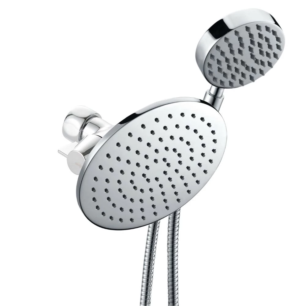 All Metal Dual Shower Head Combo With Hand Held And Rain Shower