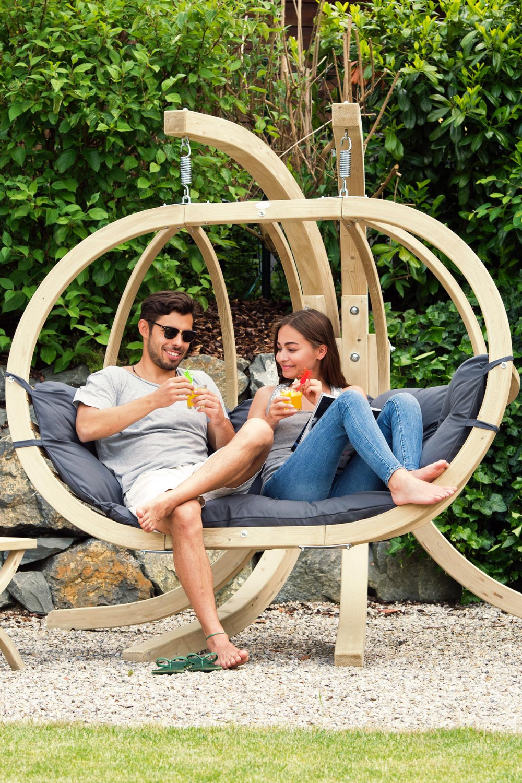 Loungesessel Fur Zwei Personen Hangestuhl Loungemobel Fur Den Garten Und Gartenlounge Hangesessel Lounge Mobel Sessel
